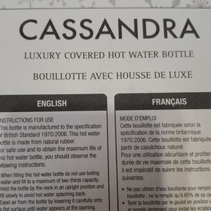 Cassandra Bath - Cassandra Luxury Hot Water Bottle
